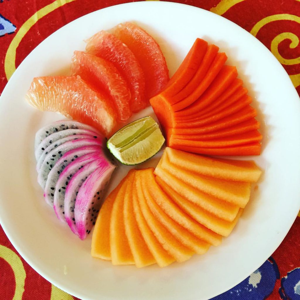Mayan Beach Garden Mahahual fruit plate