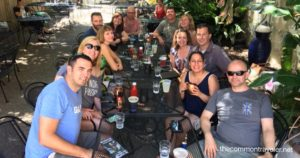 French Quarter  group at lunch