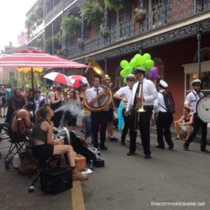 French Quarter  New Orleans street band