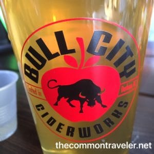 Bull City Ciderworks glass of cider