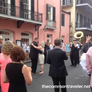 French Quarter  wedding outside Brennans