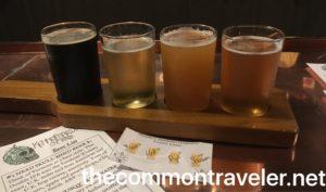 Kennett Brewing beer flight