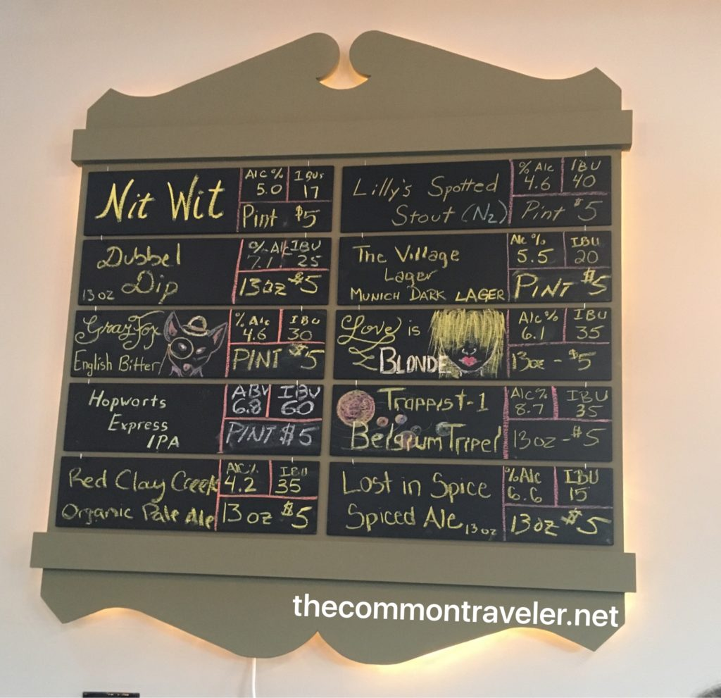 Dew Point Brewing beer menu