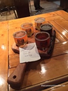 Le Baril Roulant beer flight