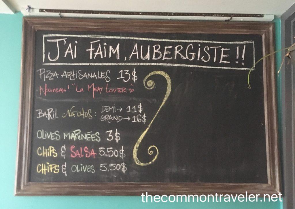 Le Baril Roulant menu