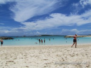 Top 5 Reasons to Go on a Reunion Cruise featured by top travel blog, The Common Traveler: reunion Beach at Coco Cay