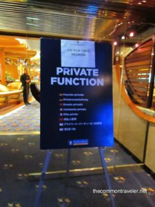 Top 5 Reasons to Go on a Reunion Cruise featured by top travel blog, The Common Traveler: reunion private reunion party sign on Royal Caribbean