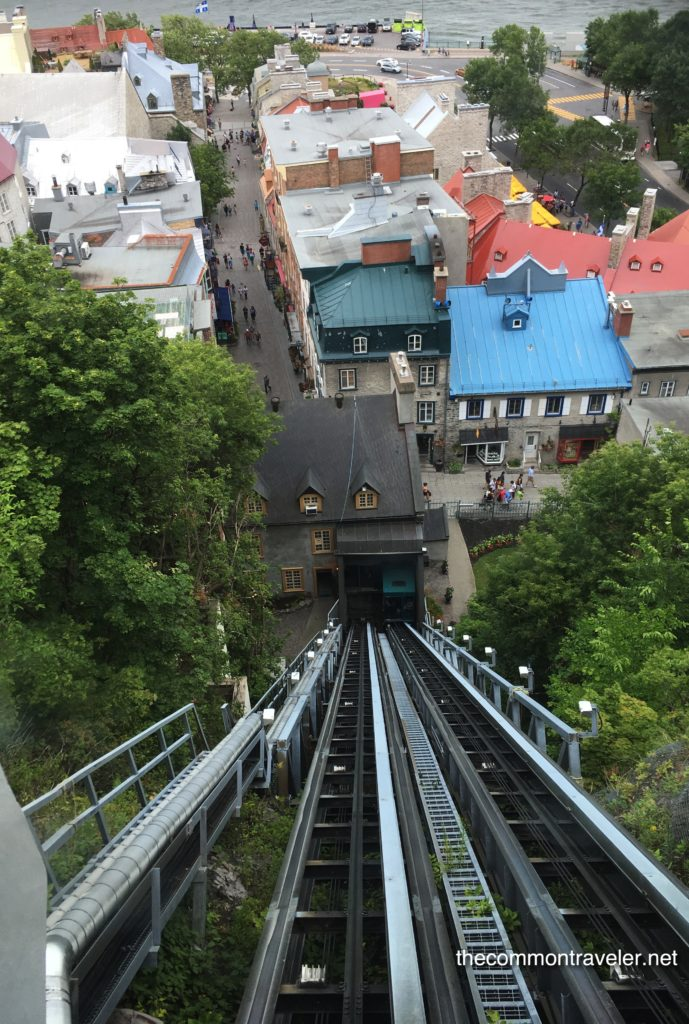 Old Quebec funiculaire view