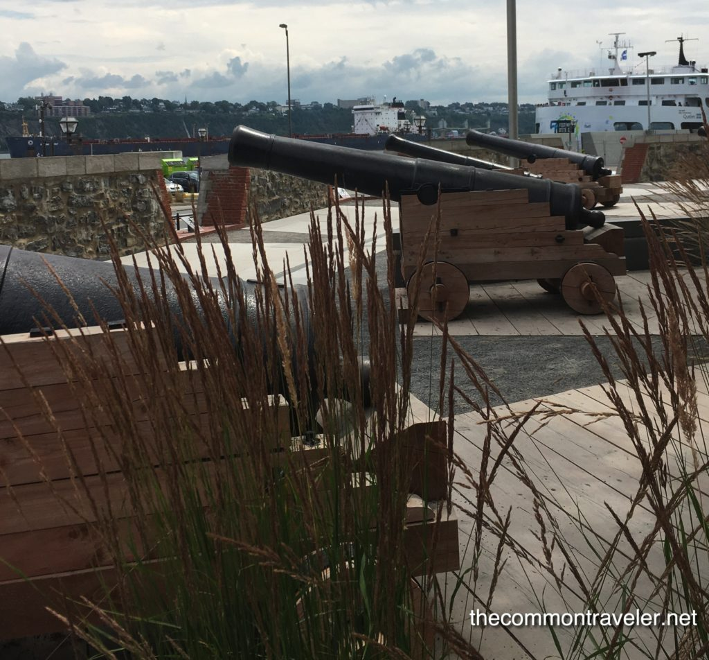 Old Quebec Quebec fort canons