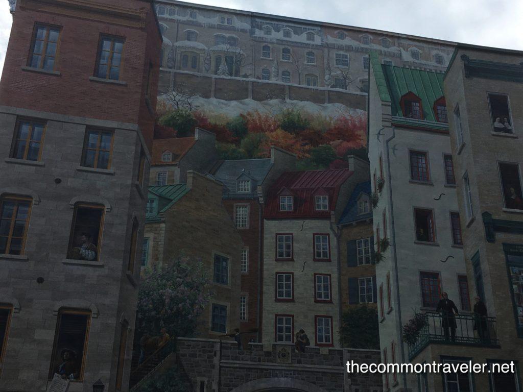 mural of old Quebec