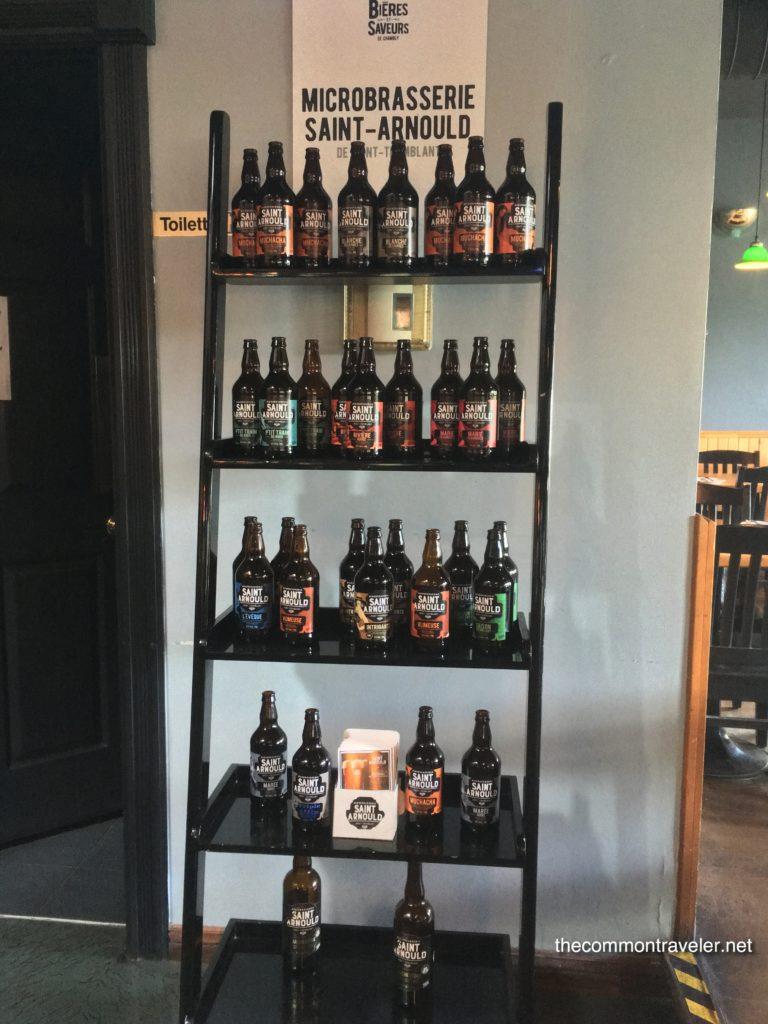 Saint Arnould beer display