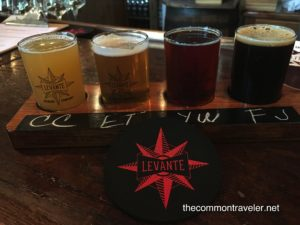 flight of beer at Levante