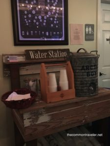 Water station at Levante Taproom