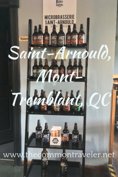 Hiking or skiing in Mont Tremblant in Quebec, Canada? Refresh with a delicious craft beer.