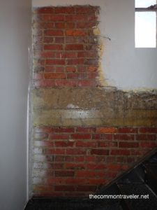 exposed brick wall at O'Neil Hotel