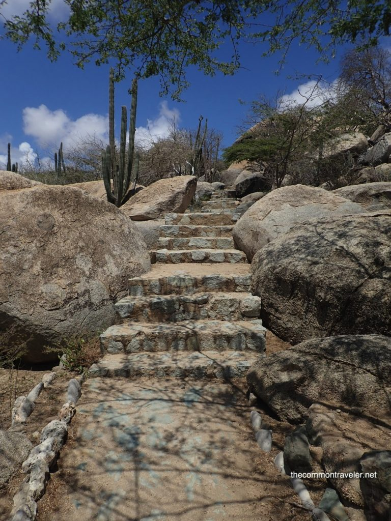 Aruba Sightseeing tips featured by top travel blog, The Common Traveler: rock stairs