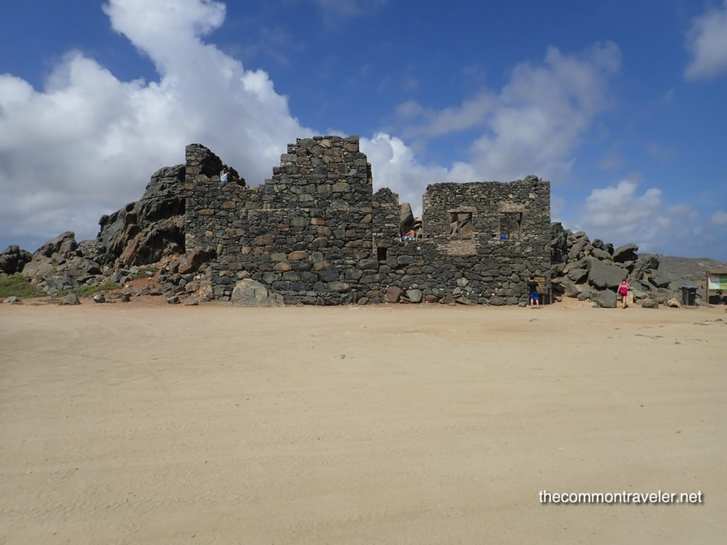 Aruba Sightseeing tips featured by top travel blog, The Common Traveler: Aruba Beaches and Desert Bushiribana Gold Mill