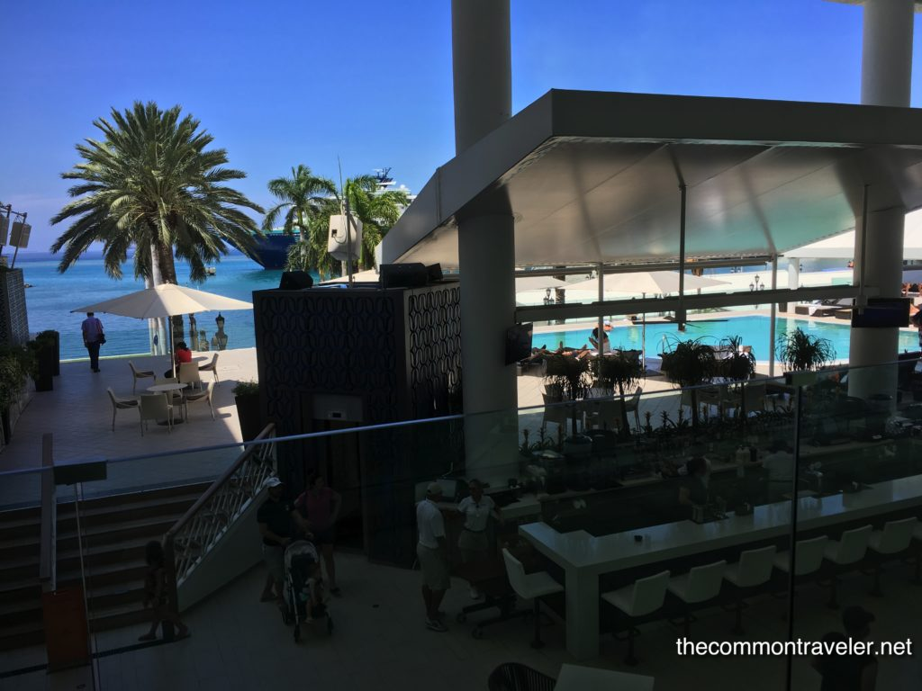 bar at Aruba Renaissance with infinity pool