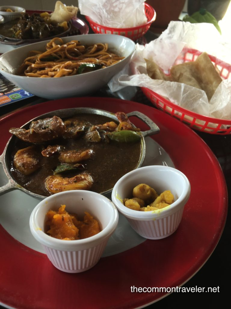 curries at Kamini's Kitchen, Aruba Restaurant