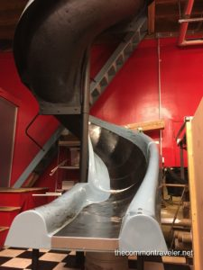 slide in Mother Earth Brewing