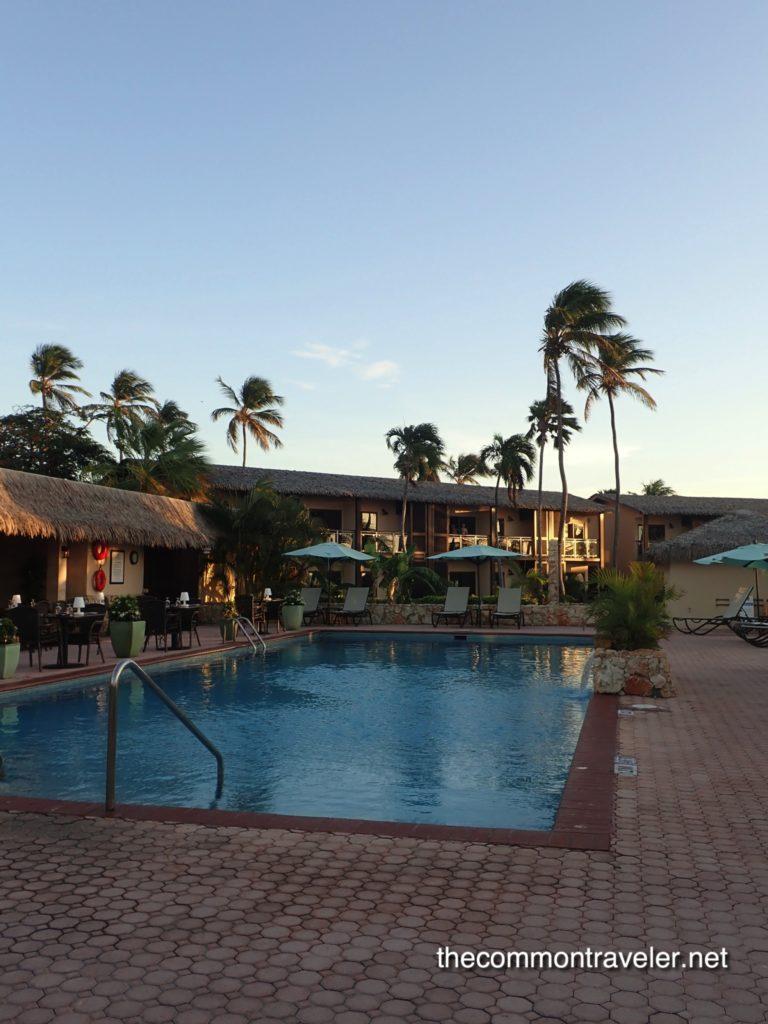 pool at Manchebo Beach Resort