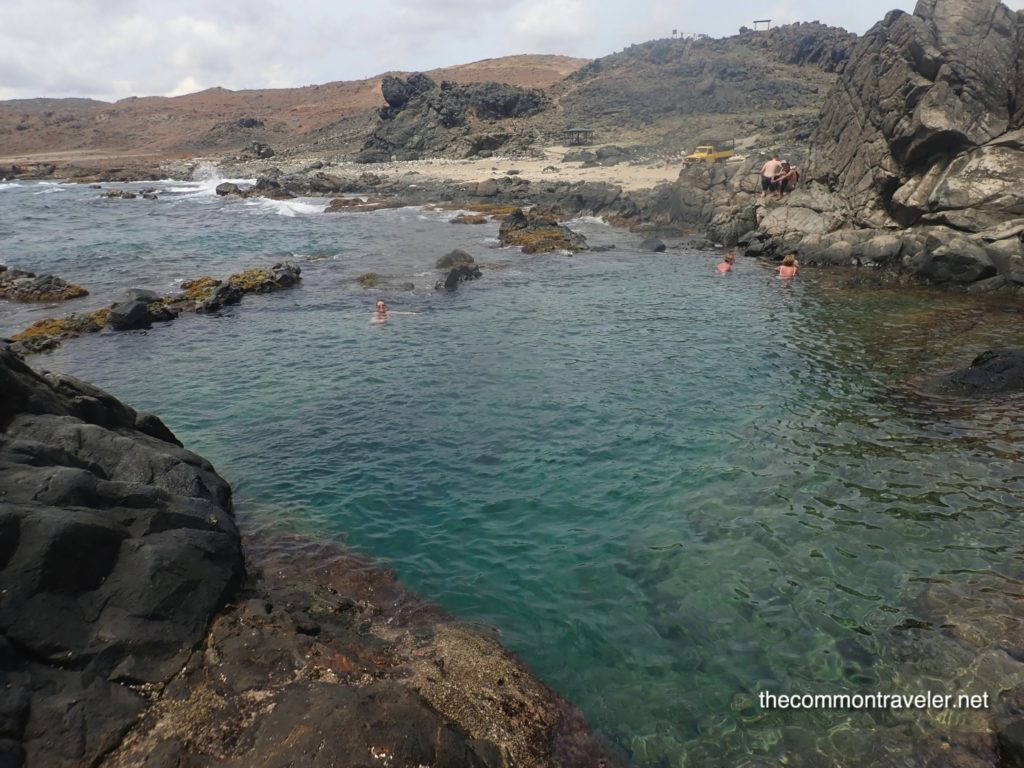 Aruba Sightseeing tips featured by top travel blog, The Common Traveler: natural pool, Aruba