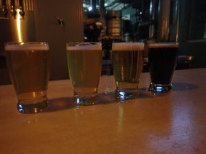 flight of East Branch Brewing beers
