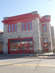 fire station doors at East Branch Brewing