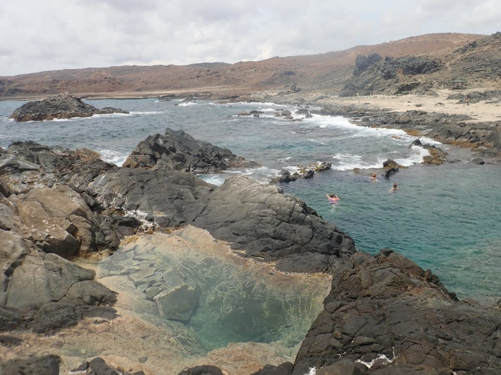How to visit the Natural Pool in Aruba, tips featured by top travel blog, The Common Traveler: Natural Pool in Aruba