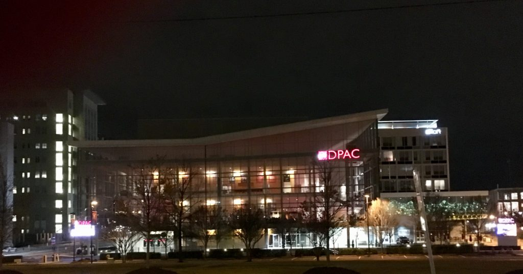 DPAC at night