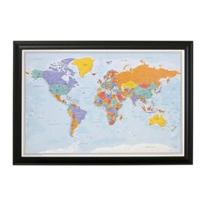 Mother's Day Gift - personalized world map with push pins