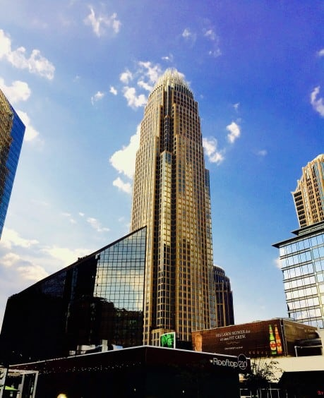 The Ultimate Weekend in Charlotte NC featured by top travel blog, The Common Traveler: buildings in Uptown Charlotte
