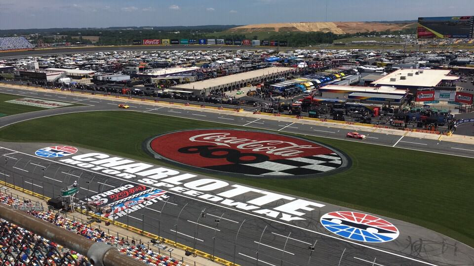 The Ultimate Weekend in Charlotte NC featured by top travel blog, The Common Traveler: NASCAR racetrack in Charlotte