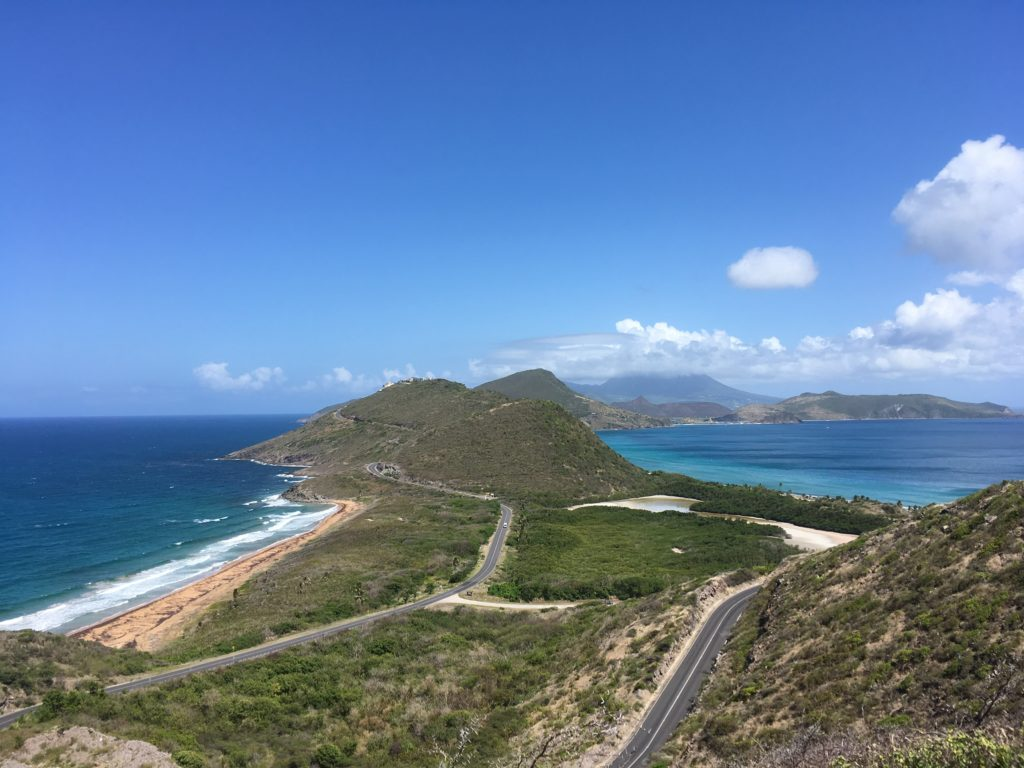 The Best Things to Do in St Kitts During a Port Day featured by top travel blog, The Common Traveler: view from Timothy Hill - Atlantic and Caribbean - in St. Kitts