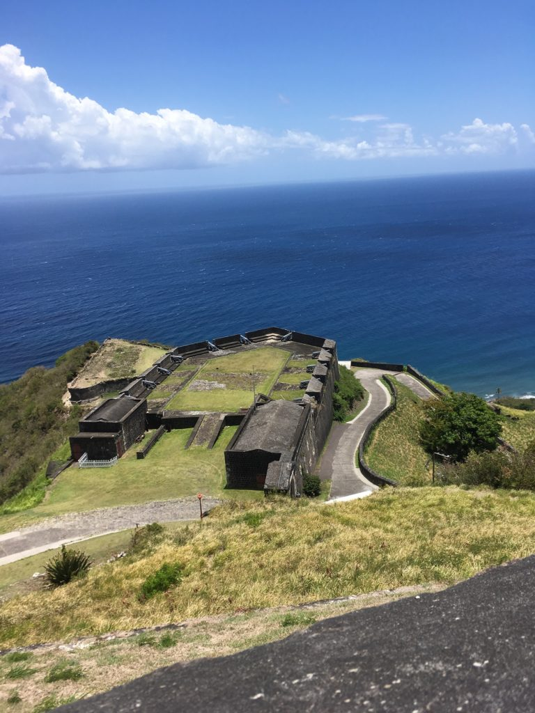 The Best Things to Do in St Kitts During a Port Day featured by top travel blog, The Common Traveler: fortress remains on St. Kitts