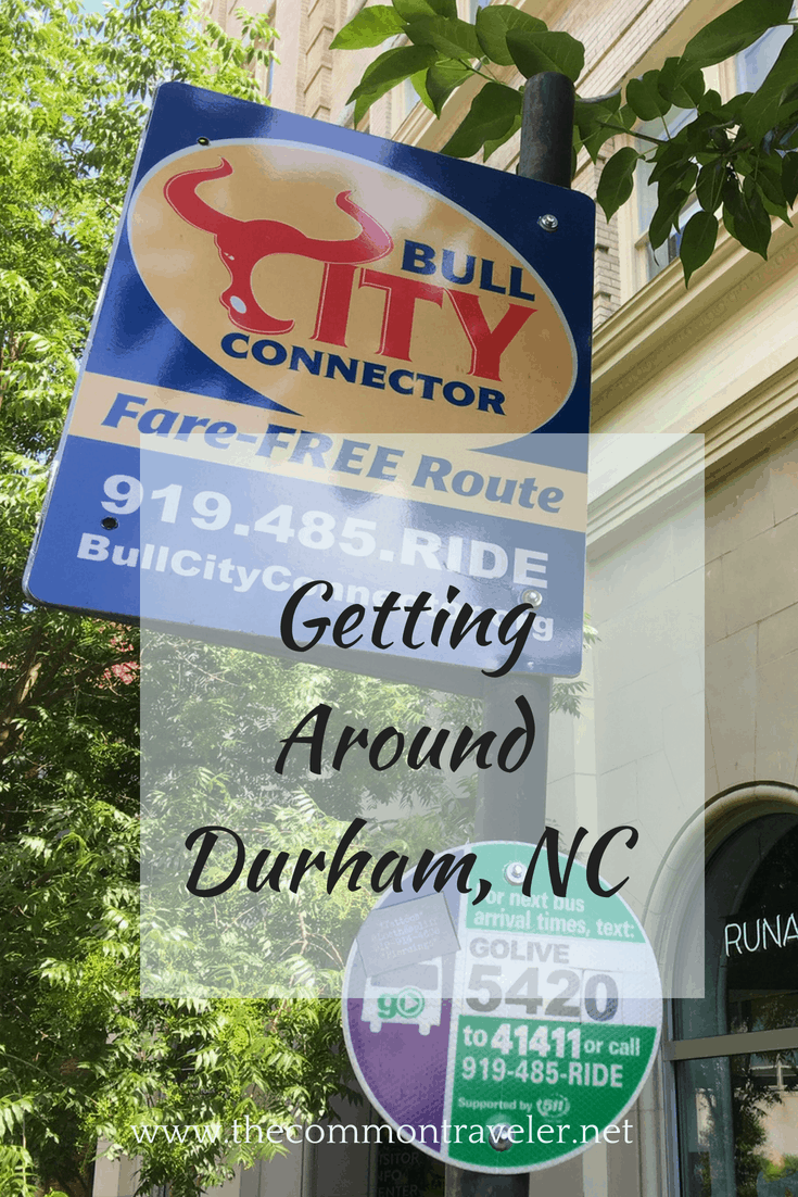 All the different ways to get around Durham, NC, USA, including costs. #durhamnc #bullcity