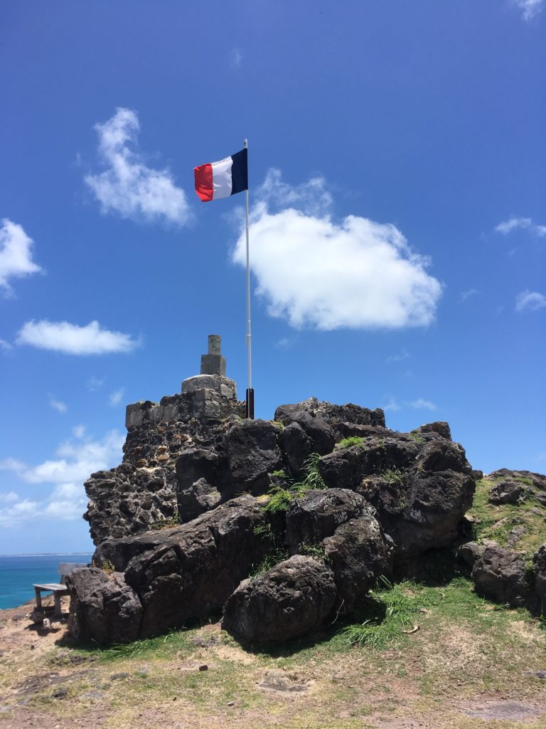 Southern Caribbean Cruise 7 Day Itinerary featured by top travel blog, The Common Traveler: Cruise Fort Louis in Marigot - French flag