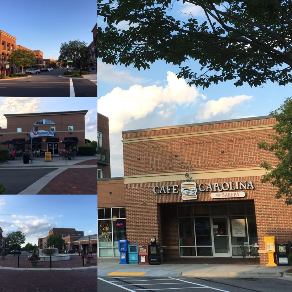Rizzo Center collage of businesses at Meadowmont, Chapel Hill