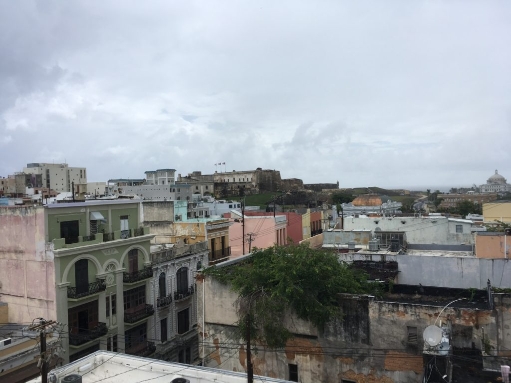 Old San Juan colorful buildings and roofs
