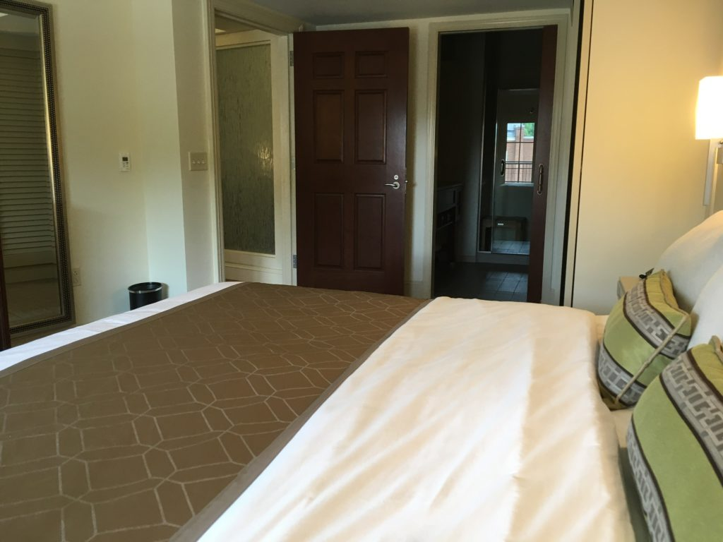 bedroom in Rizzo Center suite