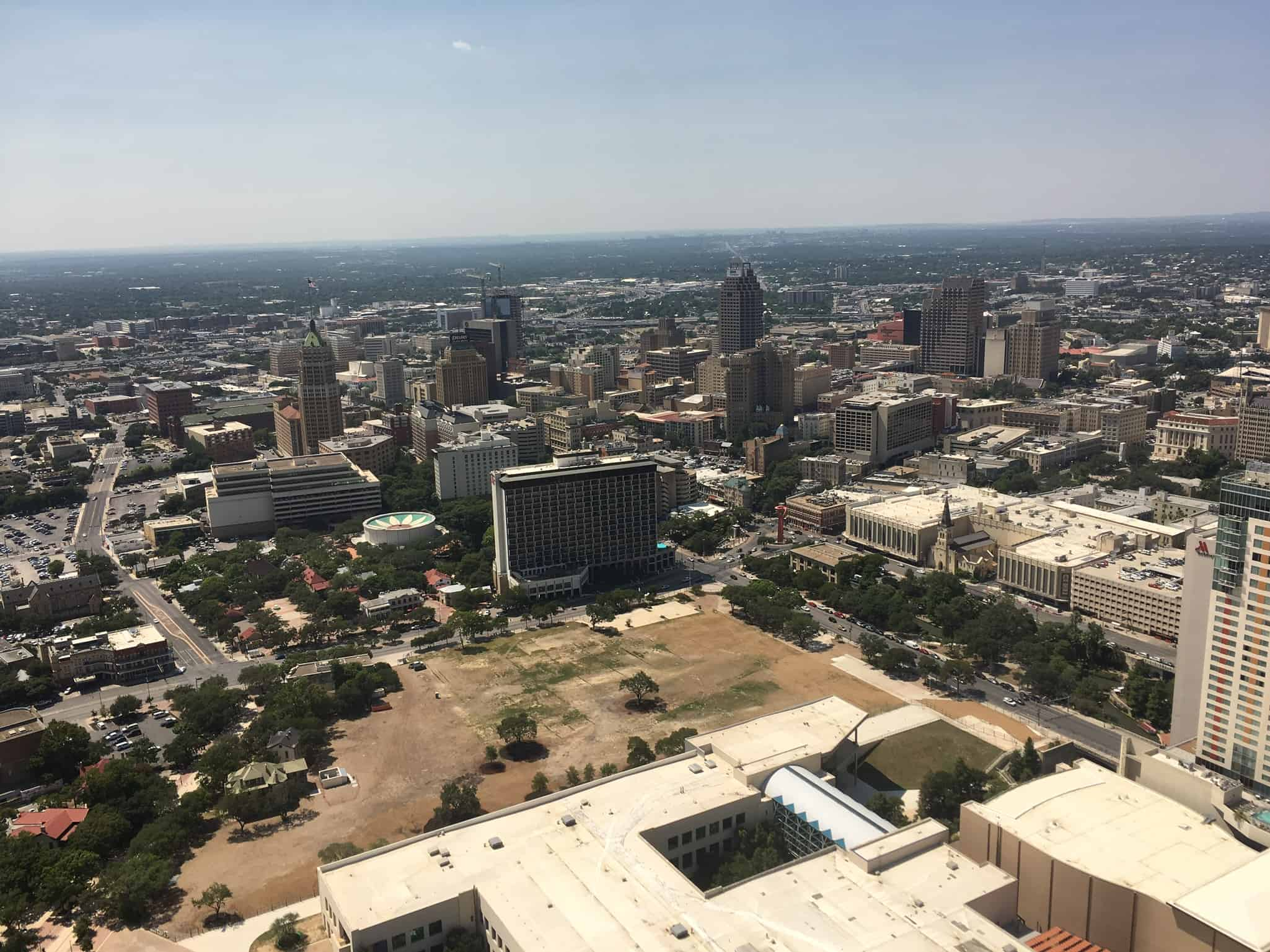 Visiting the Tower of the Americas in San Antonio TX, tips featured by top travel blog, The Common Traveler: Tower of the Americas view of San Antonio from the tower of the americas