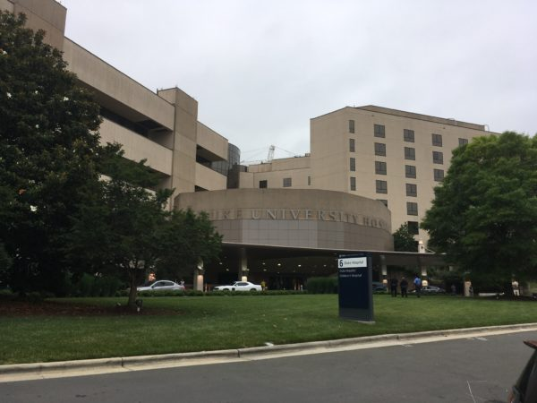 front of Duke University Medical Center