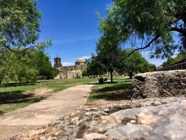 Tips for visiting San Antonio Missions shared by top US travel blog, The Common Traveler: San Antonio's Missions foot path with old church complex - Mission San Juan