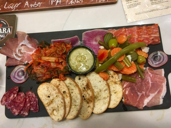 Day Trip to Niagara Falls - US and Canadian Sides featured by top travel blog, The Common Traveler: itinerary charcuterie plate