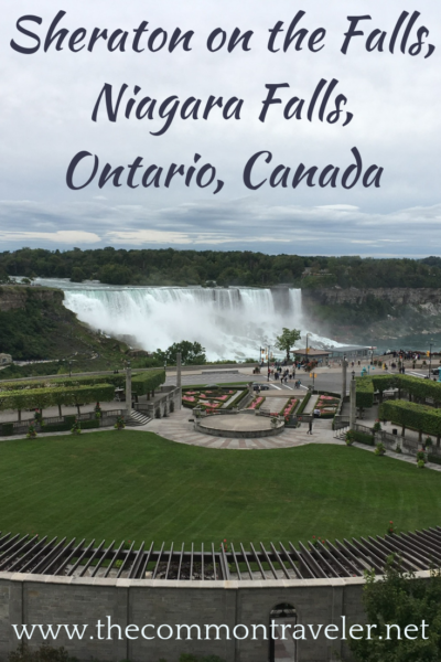 An affordable hotel with views of the American Falls in Niagara - stay at the Sheraton on the Falls. #niagara #niagarafalls Niagara Falls