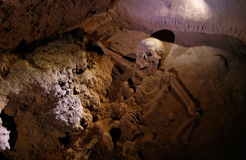 One Week in Belize featured by top US travel blog, The Common Traveler: skeleton in ATM cave in Belize