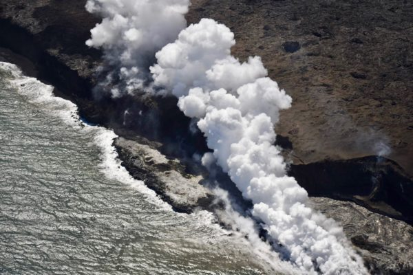 smoke from volcano in Hawaii