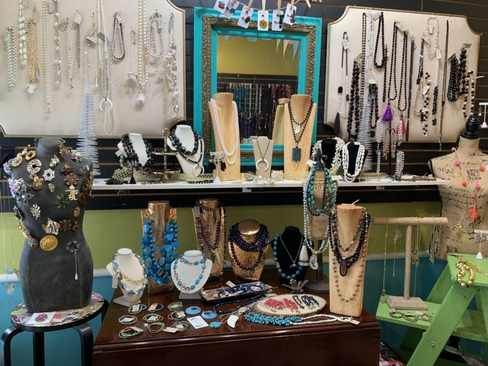 The best things to do in Concord NC in a weekend featured by top travel blog, The Common Traveler: display of locally made jewelry at The Bead Lady in Concord, NC