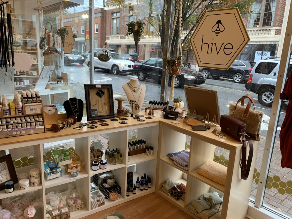 The best things to do in Concord NC in a weekend featured by top travel blog, The Common Traveler: display of locally made goods at Hive in Concord, NC