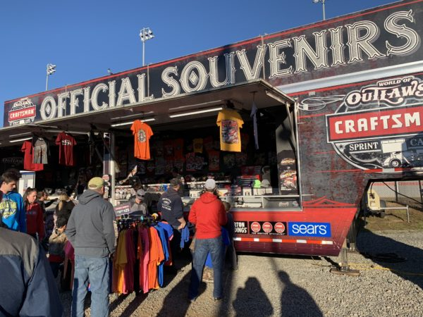 merchandising truck at World of Outlaws